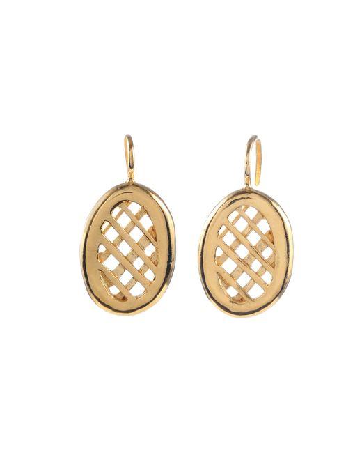 Jill Golden   Metallic Oval Lattice Earrings   Lyst