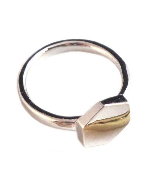 Jill Golden | Metallic Collision Ring | Lyst