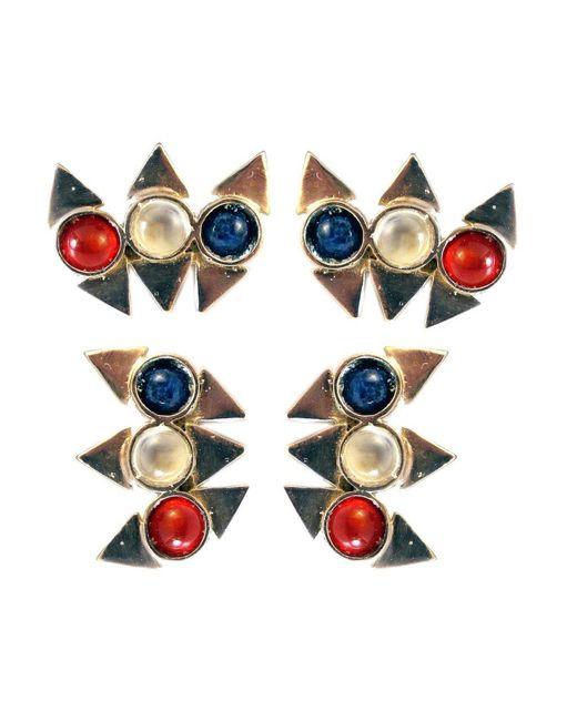 Jill Golden   Metallic Triple Reflection Earring   Lyst