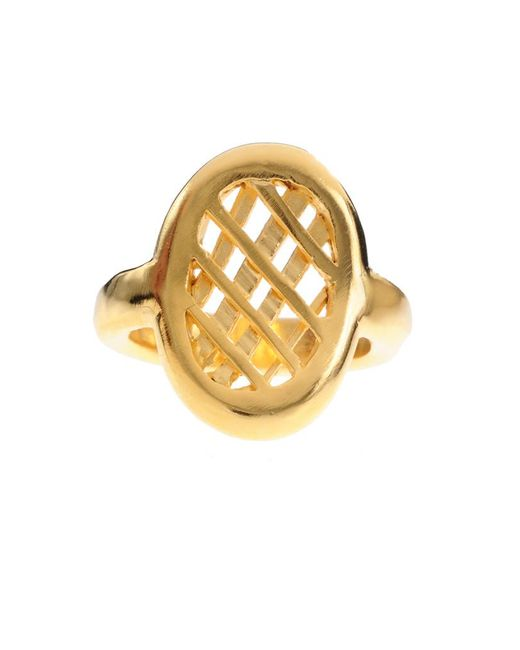 Jill Golden | Metallic Oval Lattice Ring | Lyst
