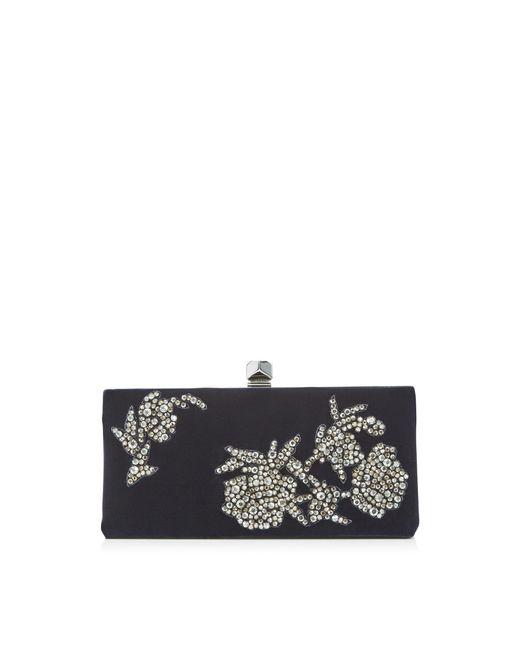 Jimmy Choo - Blue Celeste/s Navy Velvet Clutch Bag With Peony Crystal Embroidery - Lyst