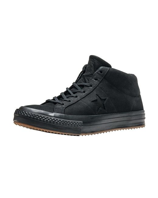cafe0290229ad7 Converse - Black One Star Mid for Men - Lyst ...