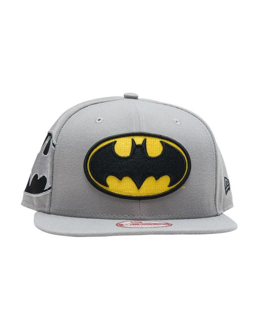 ... KTZ - Gray Batman Snapback Hat for Men - Lyst ... 99b44072ae0a