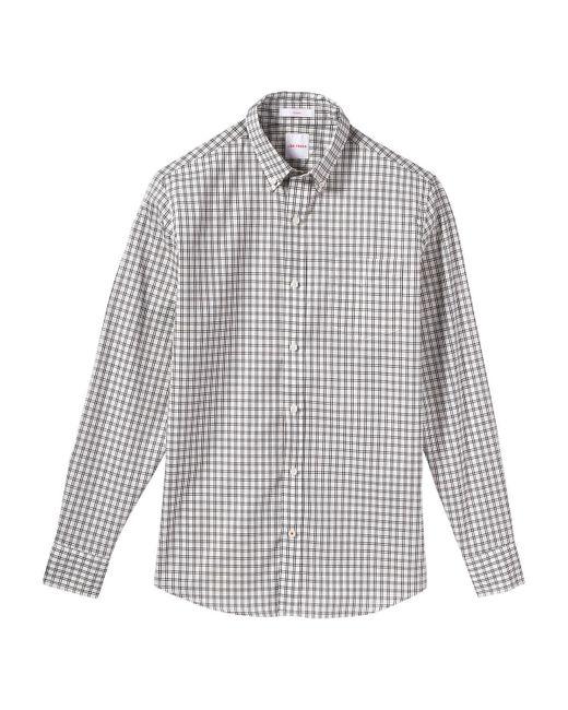 Joe fresh men 39 s check button down shirt in white for men for White button down shirt mens