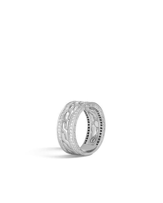 John Hardy - Metallic Classic Chain Band Ring With Diamonds - Lyst