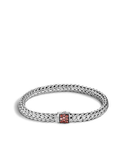 John Hardy | Classic Chain Bracelet With Red Sapphire | Lyst