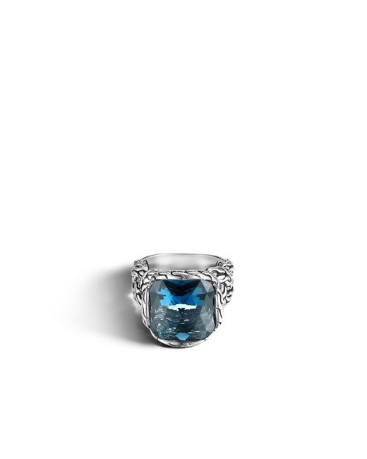 John Hardy | Classic Chain Ring With London Blue Topaz | Lyst
