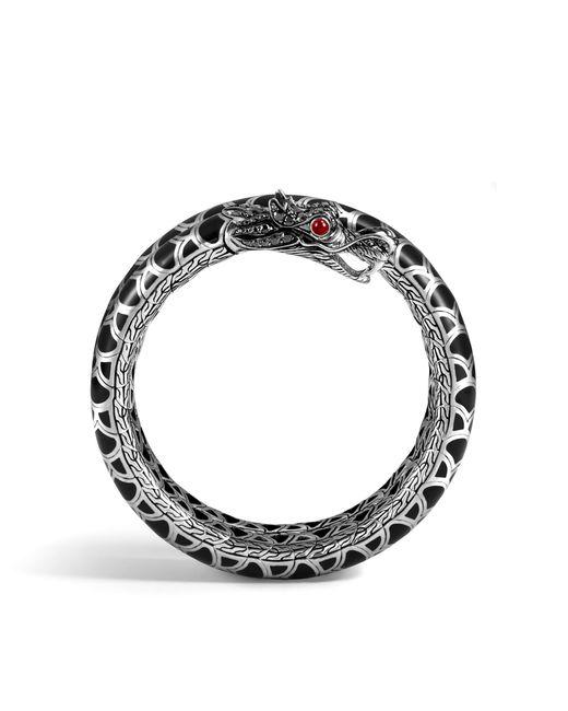 John Hardy | Naga Double Coil Bracelet With Black Sapphire | Lyst