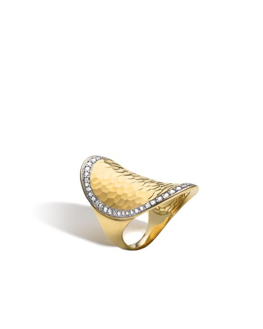John Hardy - Multicolor Classic Chain Hammered Saddle Ring With Diamonds - Lyst