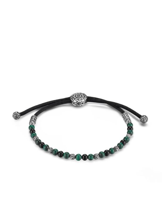 John Hardy   Classic Chain Bead Bracelet With Black Onyx And Malachite for Men   Lyst