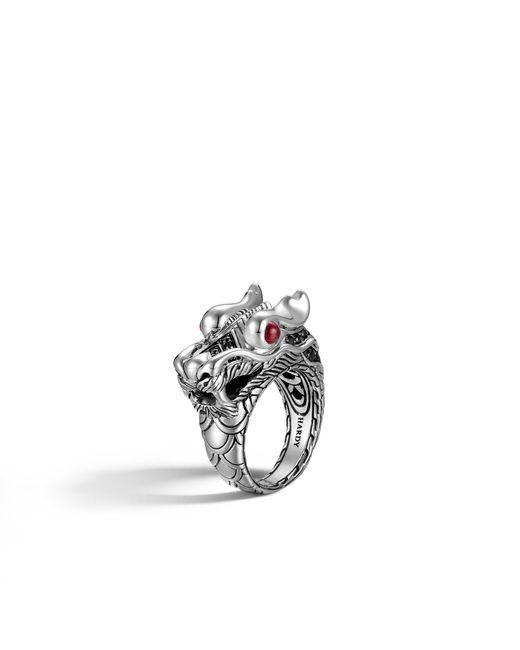 John Hardy   Metallic Naga Ring With Black Sapphire   Lyst