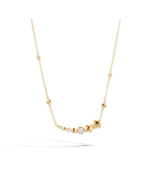 John Hardy - Multicolor Hammered Necklace With Diamonds - Lyst