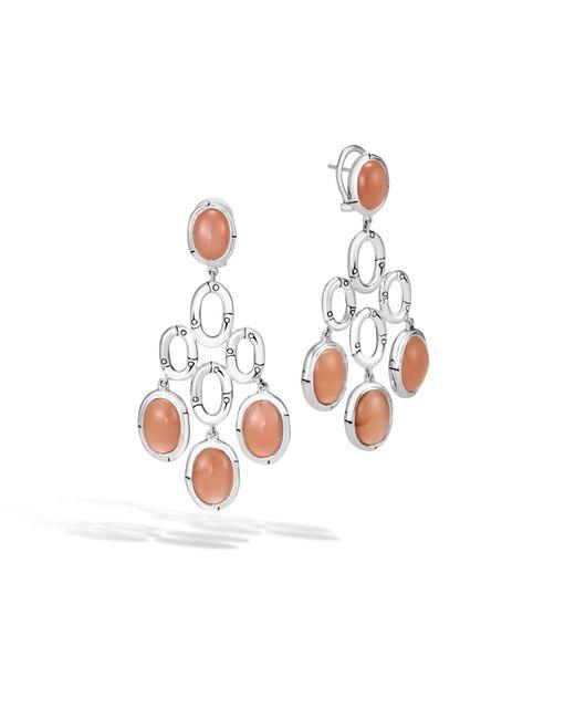 John Hardy | White Chandelier Earring With Peach Moonstone | Lyst