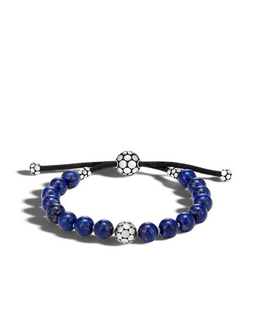 John Hardy | Blue Dot Bead Bracelet With Lapis | Lyst