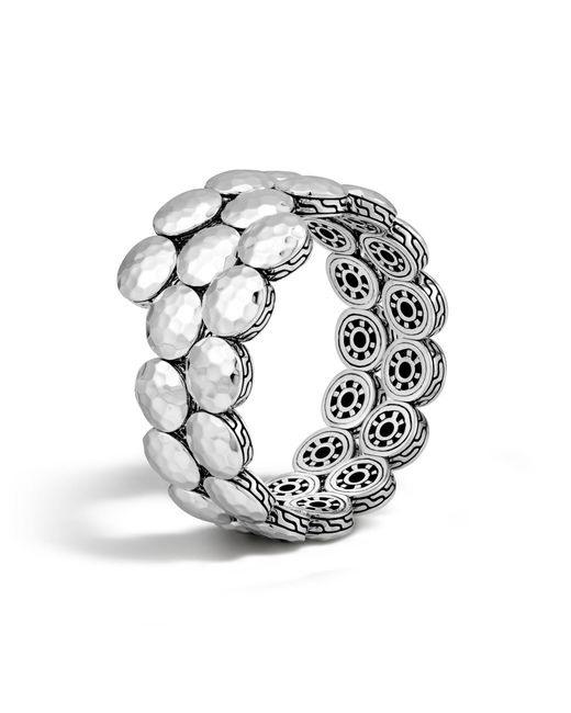 John Hardy | Metallic Hammered Double Coil Bracelet | Lyst