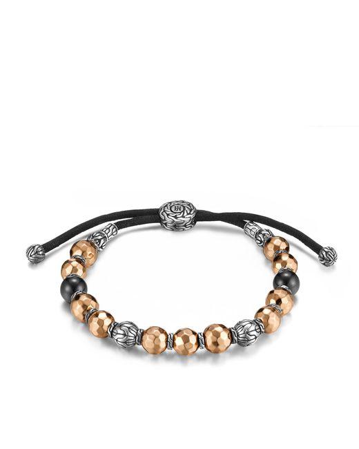 John Hardy - Multicolor Classic Chain Bead Bracelet With Black Tourmaline - Lyst