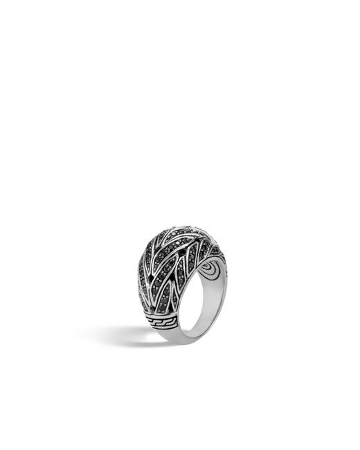 John Hardy - Classic Chain Dome Ring, Black Sapphire, Black Spinel - Lyst