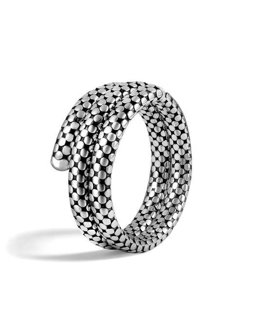 John Hardy   Metallic Classic Chain Silver Multiple Coil Bracelet   Lyst