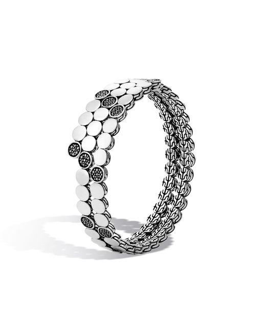 John Hardy | Double Coil Bracelet With Black Sapphire | Lyst