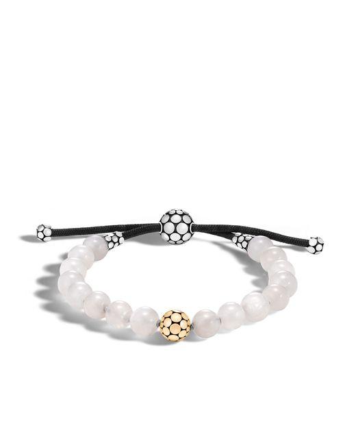 John Hardy | White Bead Bracelet With Moonstone | Lyst