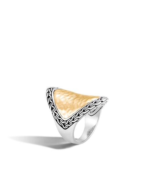 John Hardy - Multicolor Classic Chain Hammered Saddle Ring - Lyst