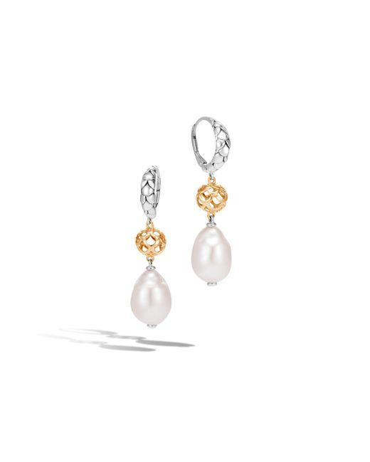 John Hardy | White Naga Drop Earring With Pearl | Lyst