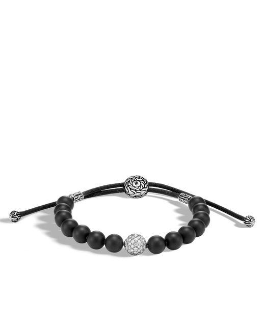 John Hardy   Classic Chain Bead Bracelet With Black Onyx And Diamonds for Men   Lyst