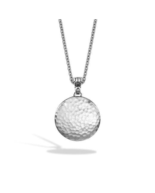 John Hardy - Metallic Hammered Pendant Necklace - Lyst