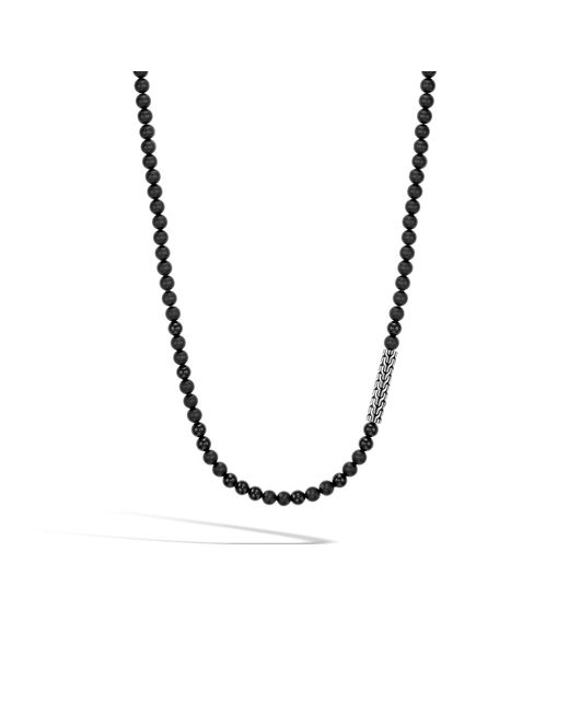 John Hardy - Classic Chain Bead Necklace With Black Onyx for Men - Lyst