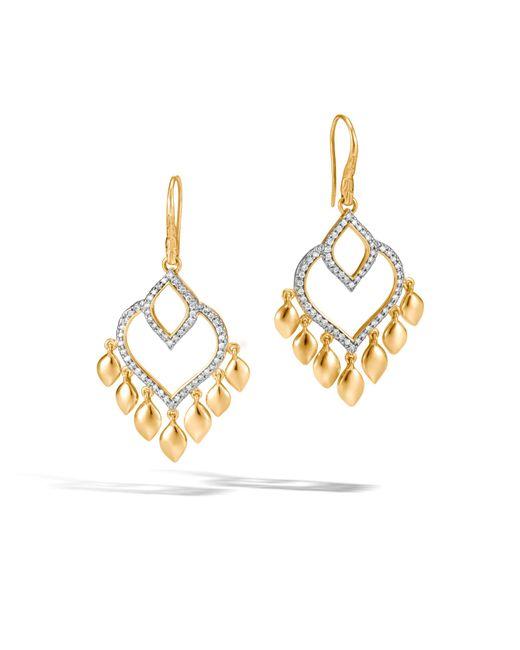 John Hardy - Metallic Naga Chandelier Earring With Diamonds - Lyst