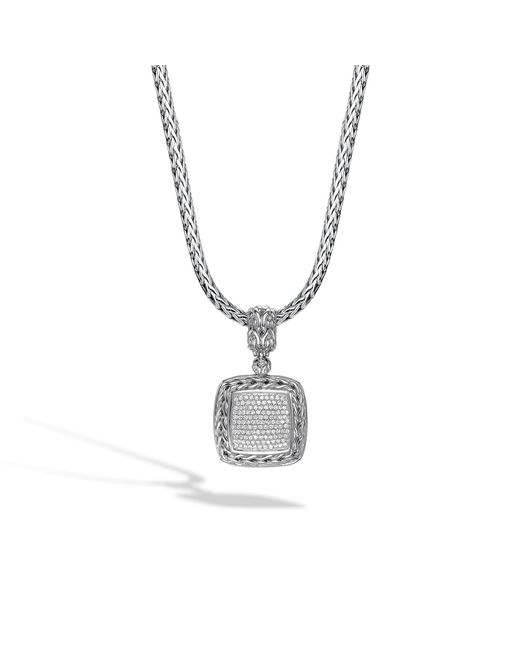 John Hardy - White Classic Chain Enhancer With Diamonds - Lyst
