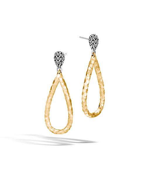John Hardy Classic Chain Hammered Drop Earrings wBXDNwIAPi