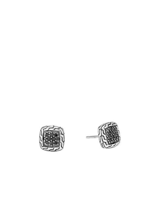 John Hardy - Classic Chain Stud Earring With Black Sapphire - Lyst