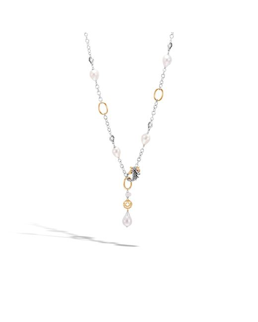 John Hardy   Naga Station Necklace With Pearl, White Moonstone   Lyst