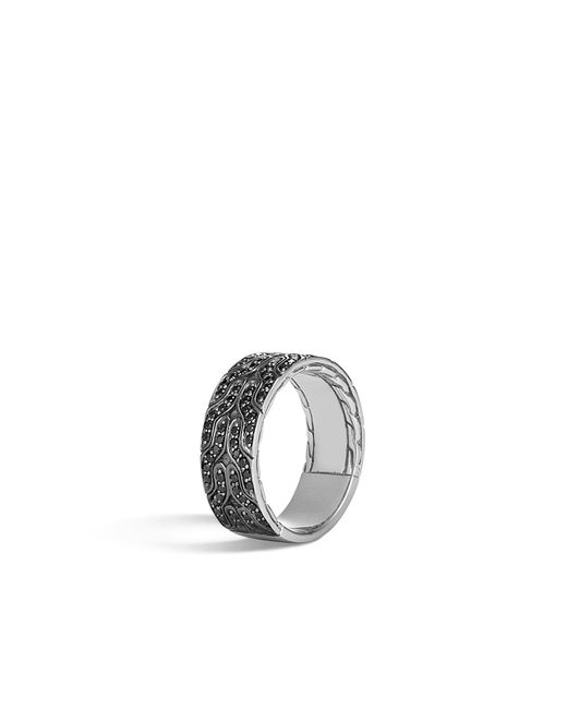 John Hardy - Classic Chain Band Ring With Black Sapphire for Men - Lyst