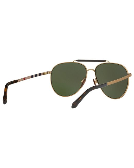 1ae69bd7872d ... Burberry - Metallic Milton Aviator Metal Sunglasses for Men - Lyst ...
