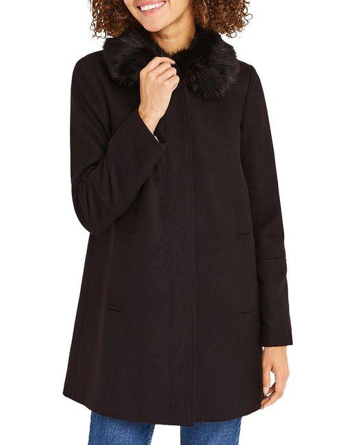Oasis | Black Swing Princess Coat | Lyst