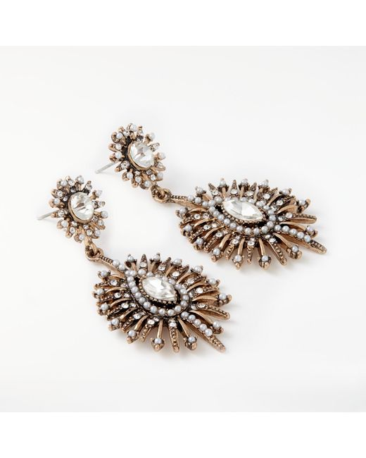 John Lewis   Metallic Baroque Faux Pearl And Crystal Drop Earrings   Lyst