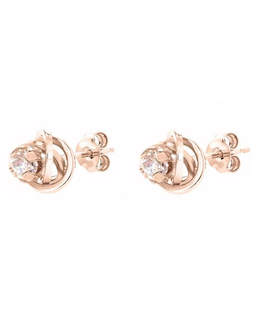 John Lewis - Pink Ibb 9ct Gold Knot Stud Earrings - Lyst