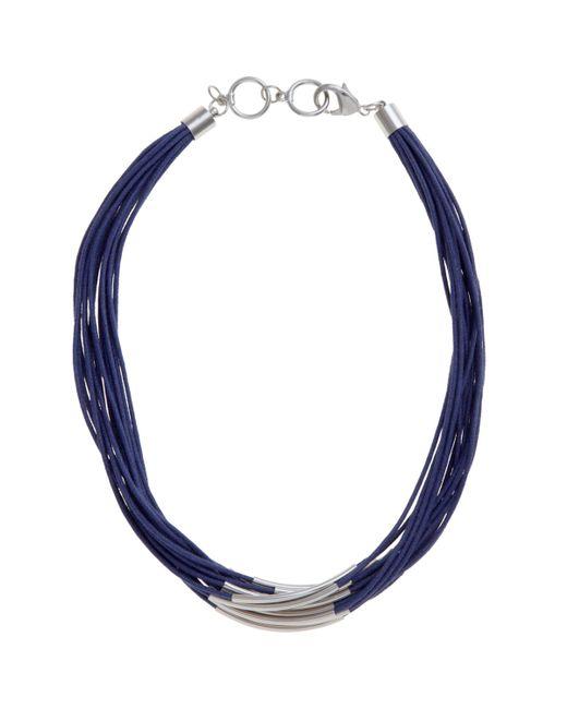 John Lewis - Metallic Multi Row Cord Necklace - Lyst