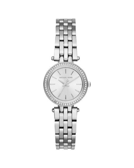 Michael Kors - Metallic Women's Darci Petite Stainless Steel Crystal Bracelet Strap Watch - Lyst