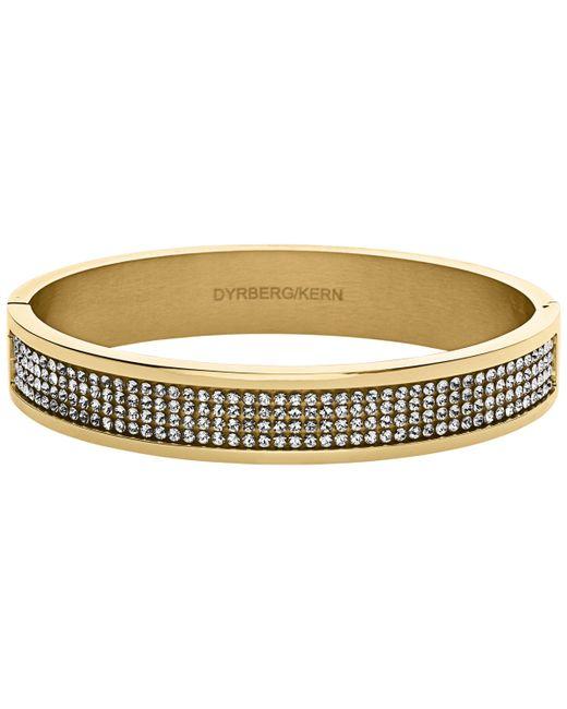 Dyrberg/Kern - Metallic Heli Gold Swarovski Bangle - Lyst