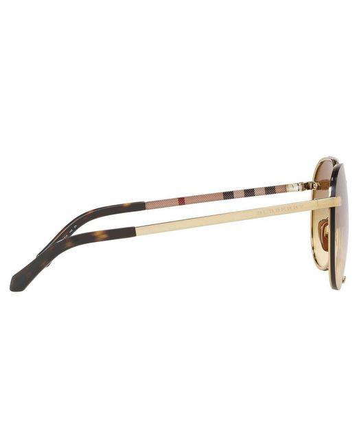 cbd8ab729 ... Burberry - Metallic Be3099 Women's Aviator Sunglasses ...