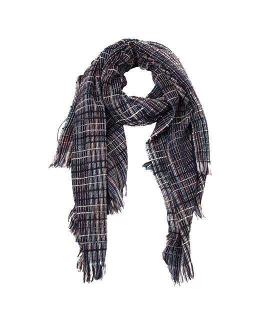 French Connection   Blue Zellar Weave Scarf   Lyst