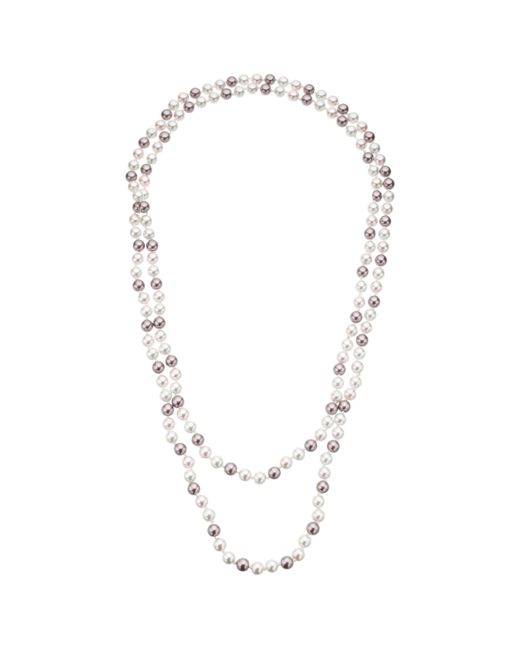John Lewis - Pink Long Faux Pearl Necklace - Lyst