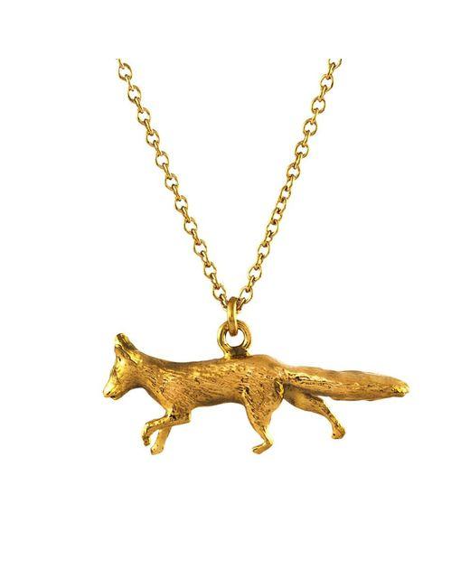 Alex Monroe   Metallic 22ct Gold Vermeil The Chase Prowling Fox Pendant   Lyst