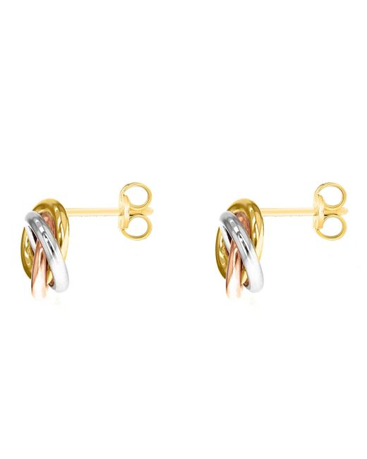 John Lewis - Multicolor Ibb 9ct Three Colour Gold Knot Stud Earrings - Lyst