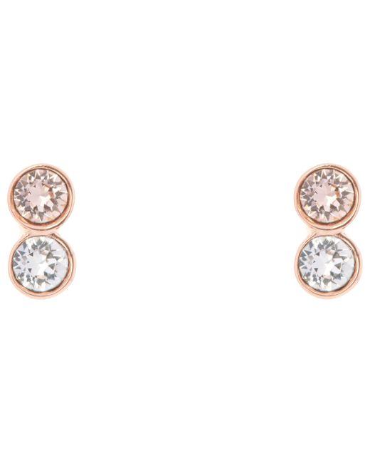 Karen Millen - Metallic Tiny Drop Swarovski Crystal Earrings - Lyst