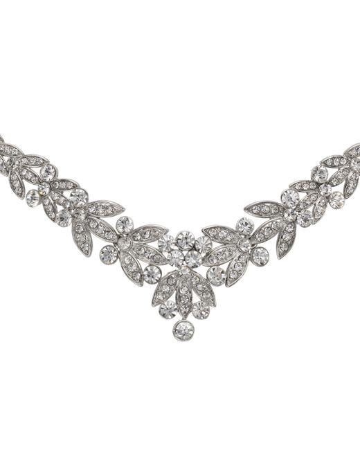 John Lewis - Metallic Diamante Leaf Statement Necklace - Lyst
