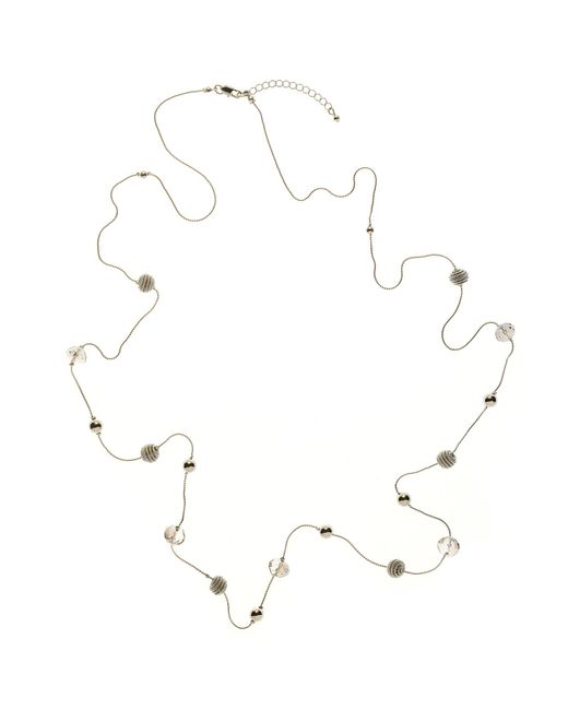 John Lewis | Metallic Facet Acryic Bead And Coil Bead Long Necklace | Lyst
